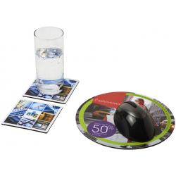 Combo 6 de alfombrilla para ratón y juego de posavasos Q-Mat®