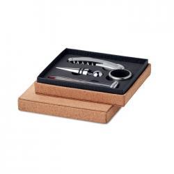 Set vino 4 piezas caja corcho Gisborne