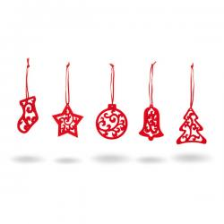 Set de 5 adornos de navidad 99324