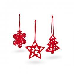 Set de 3 adornos de navidad 99323