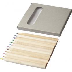 Caja cartón con 12 lápices