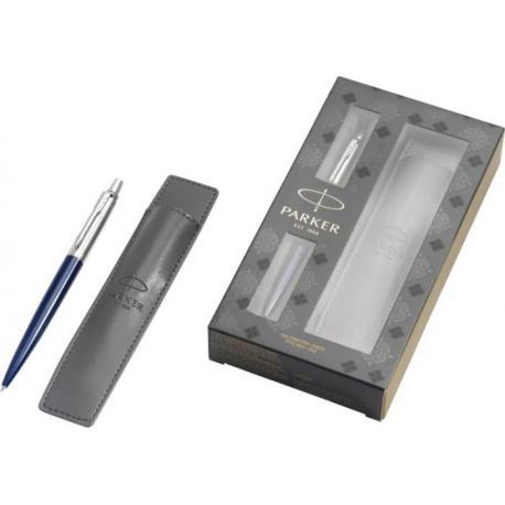 Set de regalo de bolígrafo con funda jotter royal blue