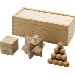3 juegos de ingenio en madera Brainiac