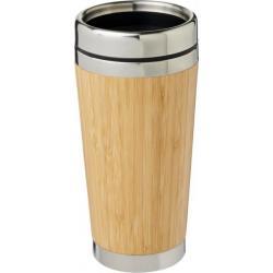 """Vaso con aislamiento y exterior de bambú de 450 ml """"bambus"""""""