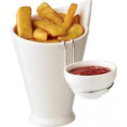 Recipiente para patatas fritas y salsera Chase