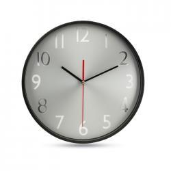 Reloj pared esfera plateada Rondo