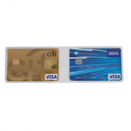 Funda para tarjetas doble