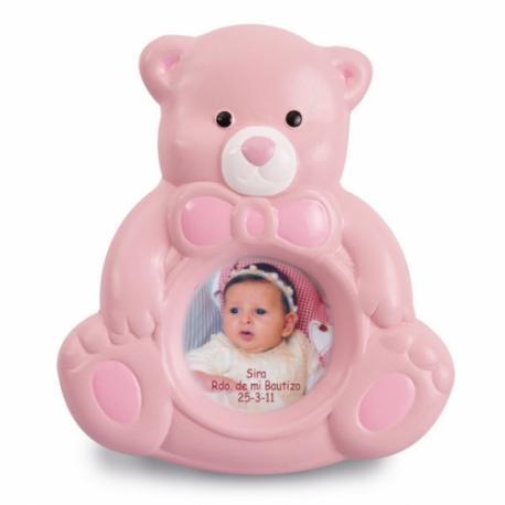 Marco de fotos para bebé Osito ceramica