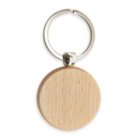 Llavero circular de madera round