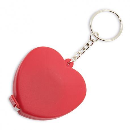 Llavero cinta metrica corazon