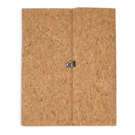 Carpeta con bloc corcho natural