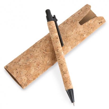 Boligrafo con funda corcho natural