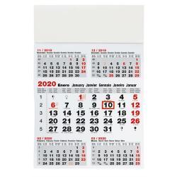 Calendario 5 meses pared