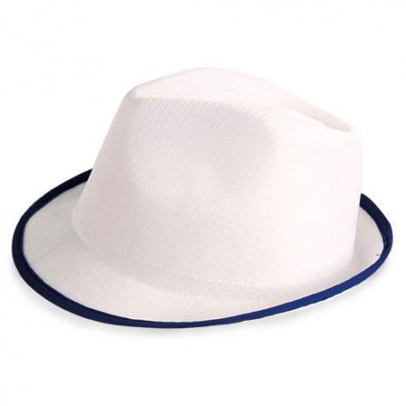 Sombrero premium blanco ribete