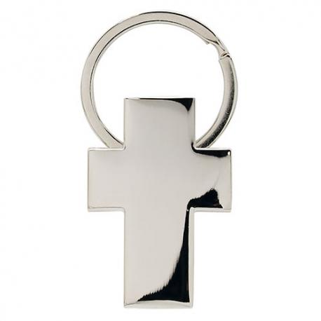 Llavero metalico forma cruz