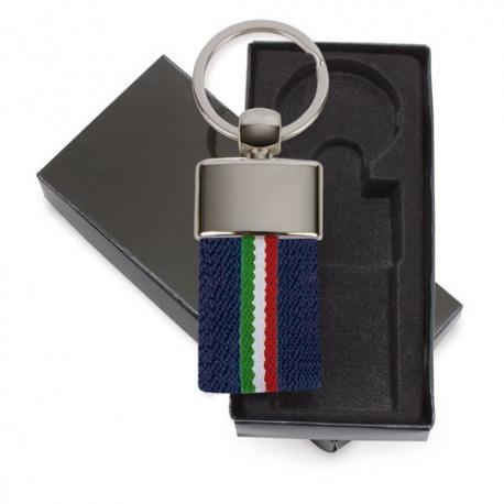 Llavero cinturon bandera italia