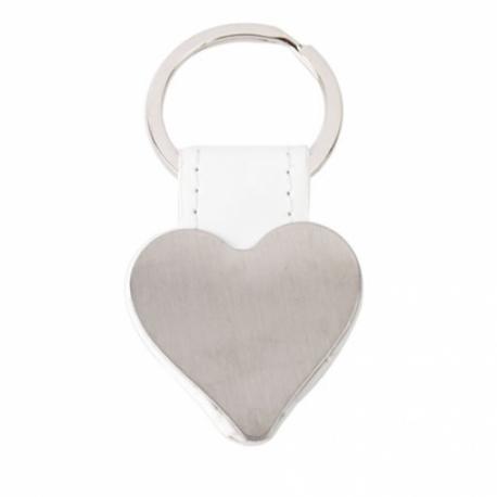Llavero metalico forma corazon