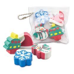 Set gomas navideñas hal 1 pack