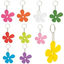 Llavero de madera happy flower( 1 pack 10 uds. )