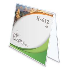 Portagráfica pvc duo horizontal a6