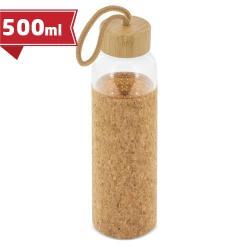 Botella cristal tapón bambú/corcho zasi