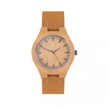 Reloj de pulsera con correa de piel analógico Sion