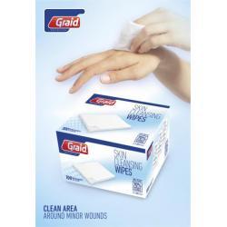 Caja con 100 unidades de toallitas limpiadoras Elisabeth