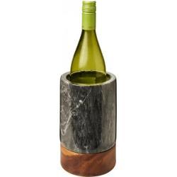 Enfriador para vino de mármol y madera Harlow