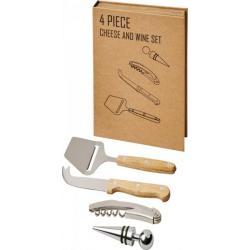 Set de regalo para vino y queso de 4 piezas Reze