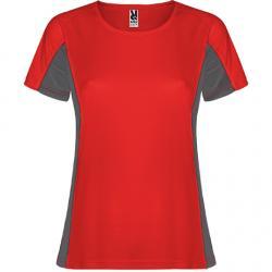 Camiseta técnica combinada con dos tejidos de poliéster SHANGHAI WOMAN