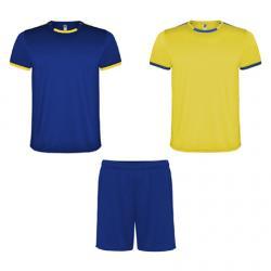 Conjunto deportivo unisex compuesto de 2 camisetas + 1 pantalón RACING