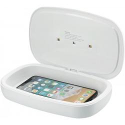 Desinfectante UV para smartphone con base de carga inalámbrica de 5w Capsule