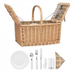 Cesta de picnic para 4 personas Mimbre plus