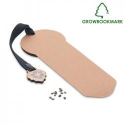 Marcapáginas con semillas de pino Growbookmark™