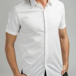 Camisa popelina para hombre. Blanco Madrid