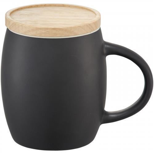 Taza cerámica con base tapa madera 400ml Hearth