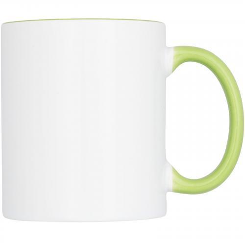 Taza cerámica color combinado 330ml