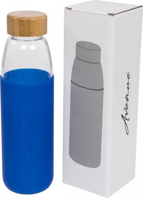 Botella de agua de vidrio 540ml y tapón de bambú Kai