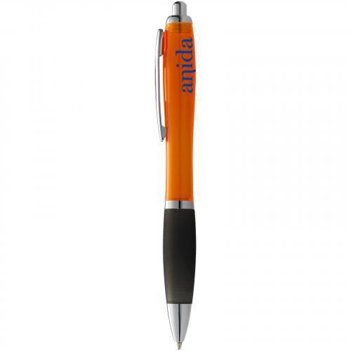 Bolígrafo nash de color con grip negro y tinta negra