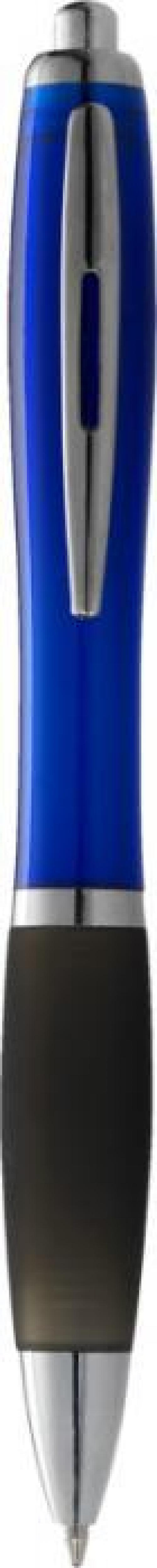 Bolígrafo nash de color con grip negro y tinta azul