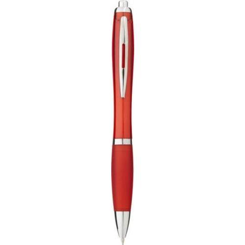 Bolígrafo nash de color con grip de color y tinta negra