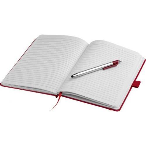 Libreta a5 y bolígrafo-puntero Crown