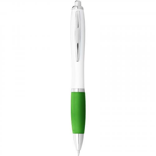 Bolígrafo nash blanco con grip de color Nash blanco con grip de color