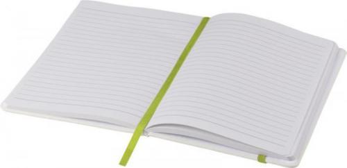 Libreta blanca con cinta de color a5 Spectrum