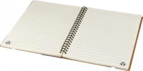Libreta a5 de papel reciclado con regla y notas adhesivas Josie