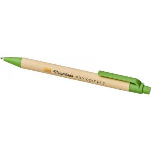 Bolígrafo de cartón reciclado y plástico de maíz Berk