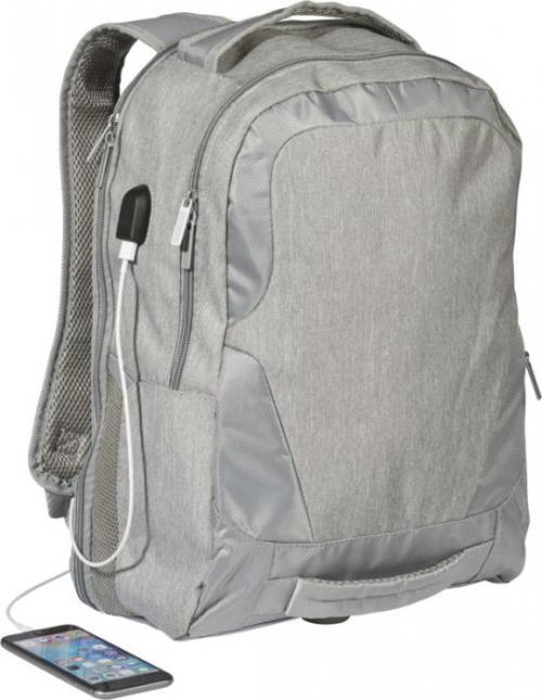 Mochila overland con puerto USB para portátil TSA de 17