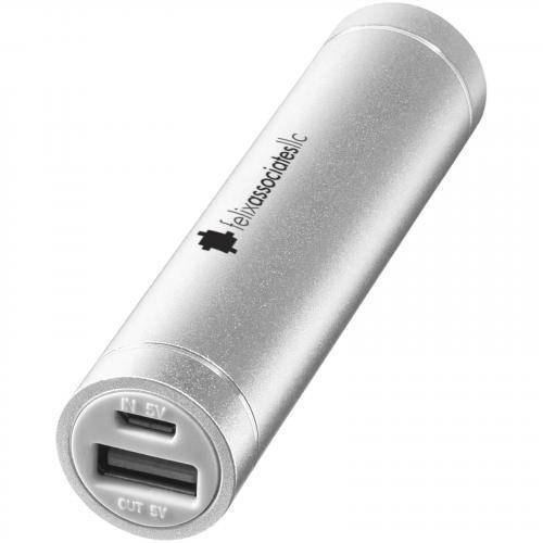 Batería externa aluminio cilíndrico 2200mAh Bolt
