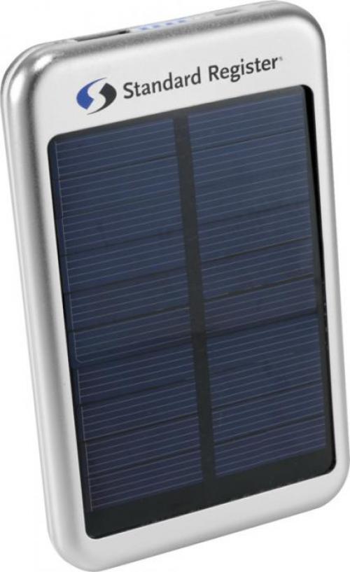 Batería externa solar plateada 4000mAh Bask