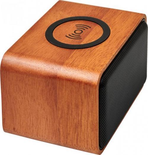 Altavoz con base de carga inalámbrica Wooden